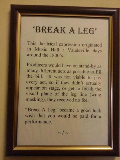 Image result for break a leg